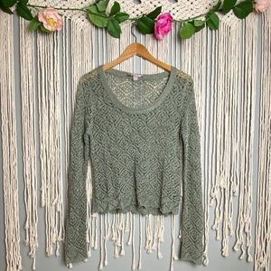 Forever 21 Crochet Lace Boxy Crop Top